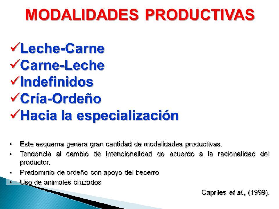 MODALIDADES PRODUCTIVAS