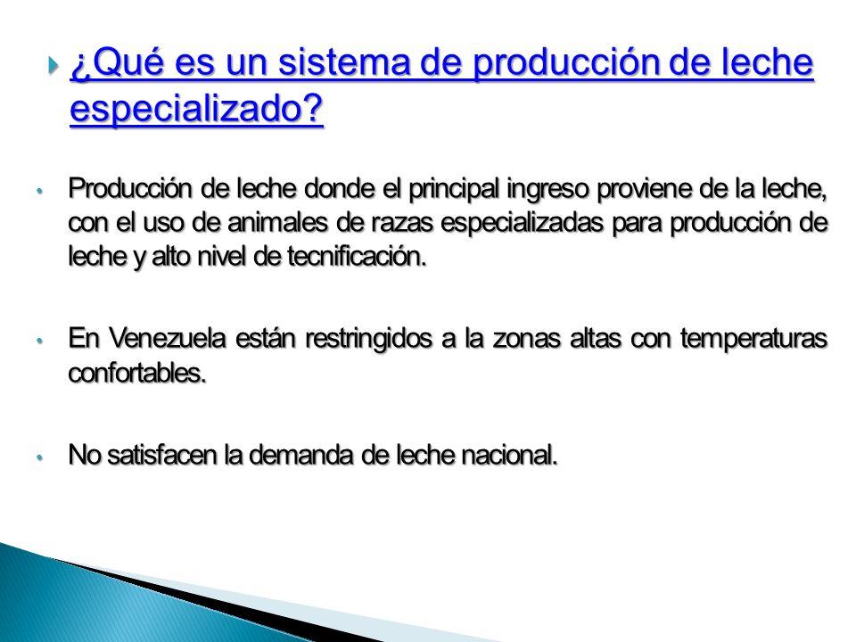 ¿Qué es un sistema de producción de leche especializado