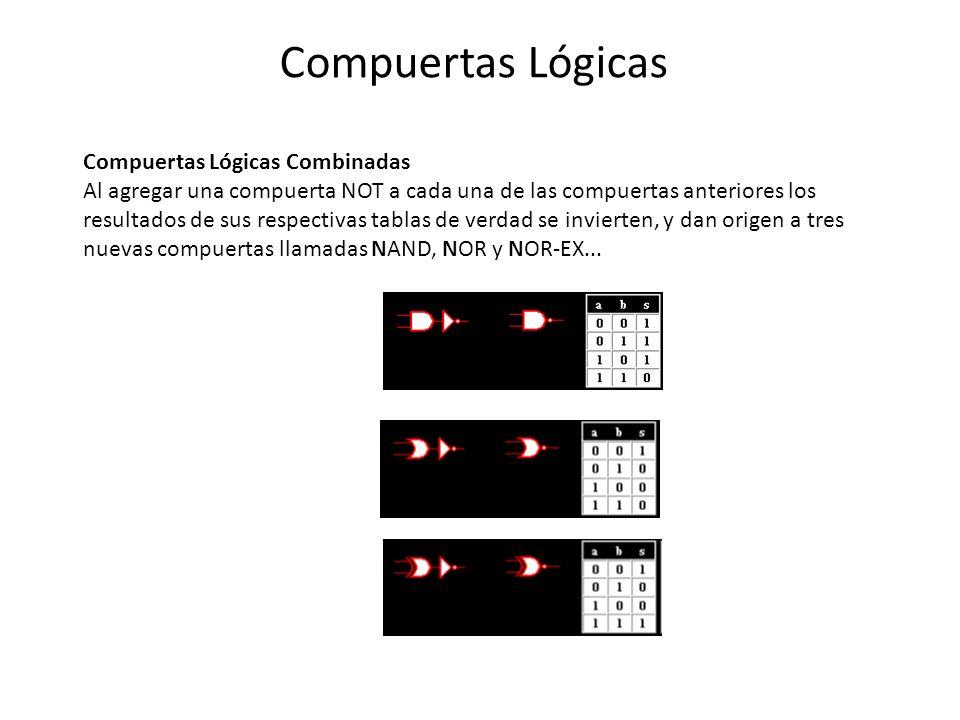 Compuertas Lógicas Compuertas Lógicas Combinadas