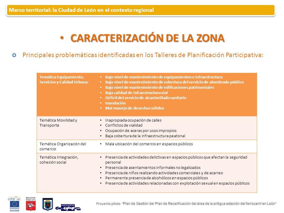 CARACTERIZACIÓN DE LA ZONA