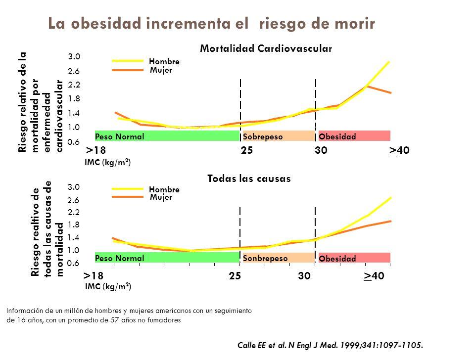 La obesidad incrementa el riesgo de morir