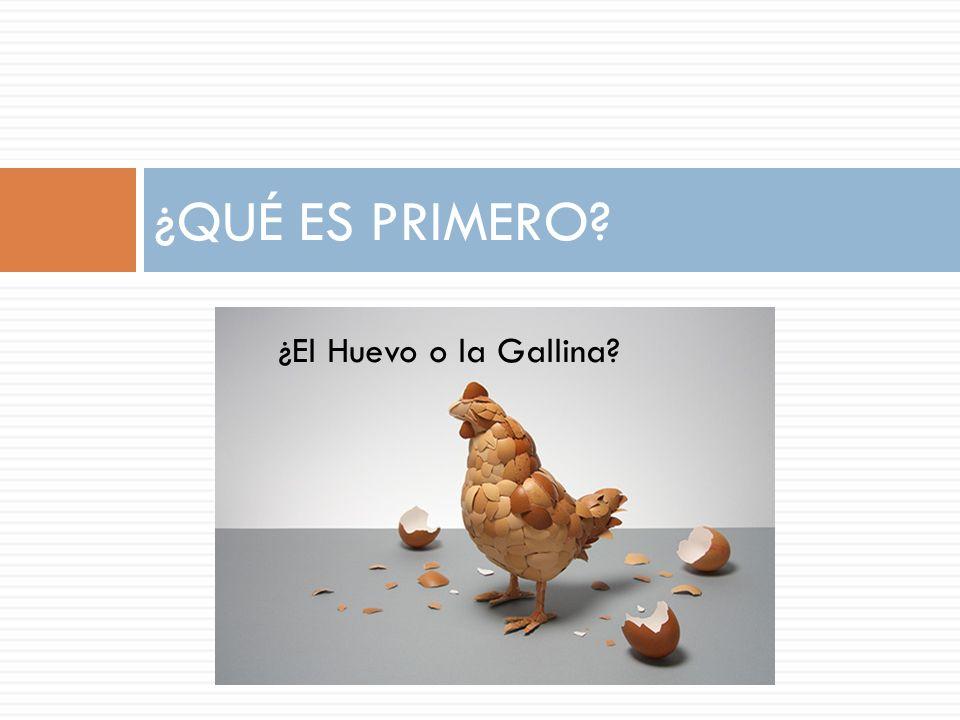 ¿QUÉ ES PRIMERO ¿El Huevo o la Gallina