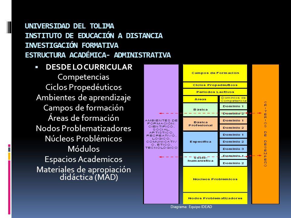 Ambientes de aprendizaje Campos de formación Áreas de formación