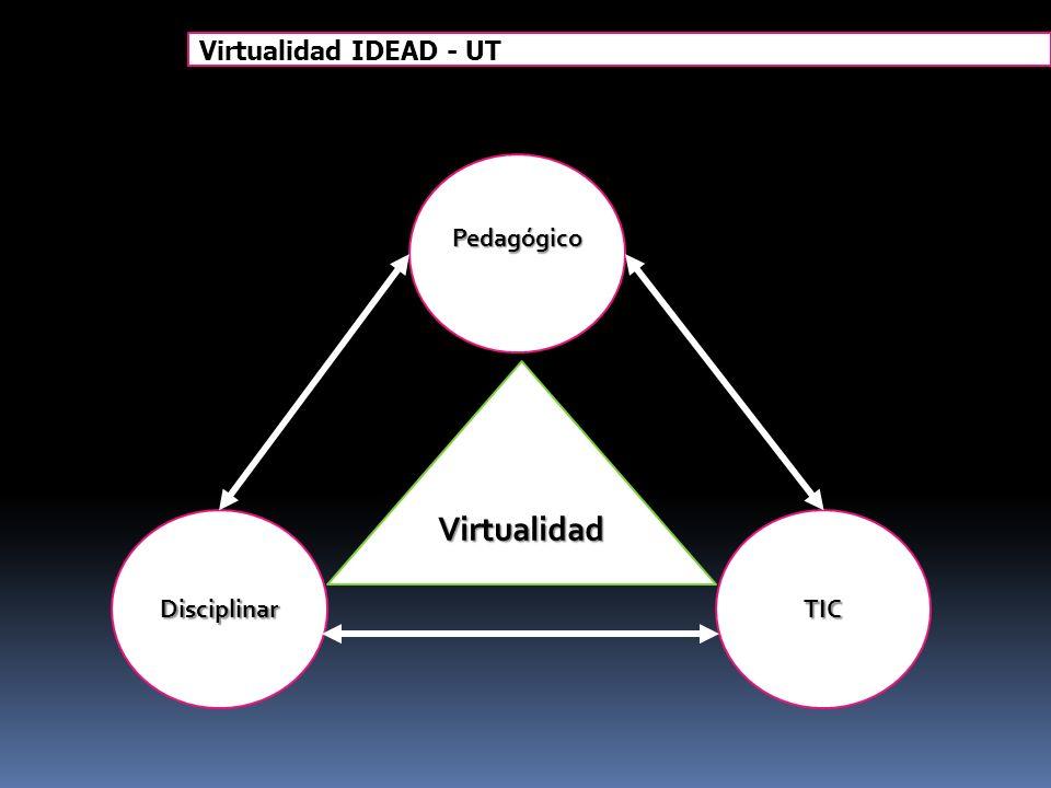 Virtualidad IDEAD - UT Pedagógico Virtualidad Disciplinar TIC 17