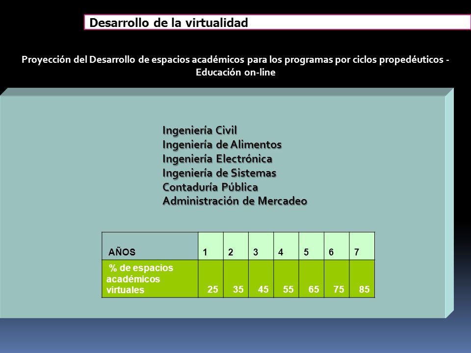 Desarrollo de la virtualidad