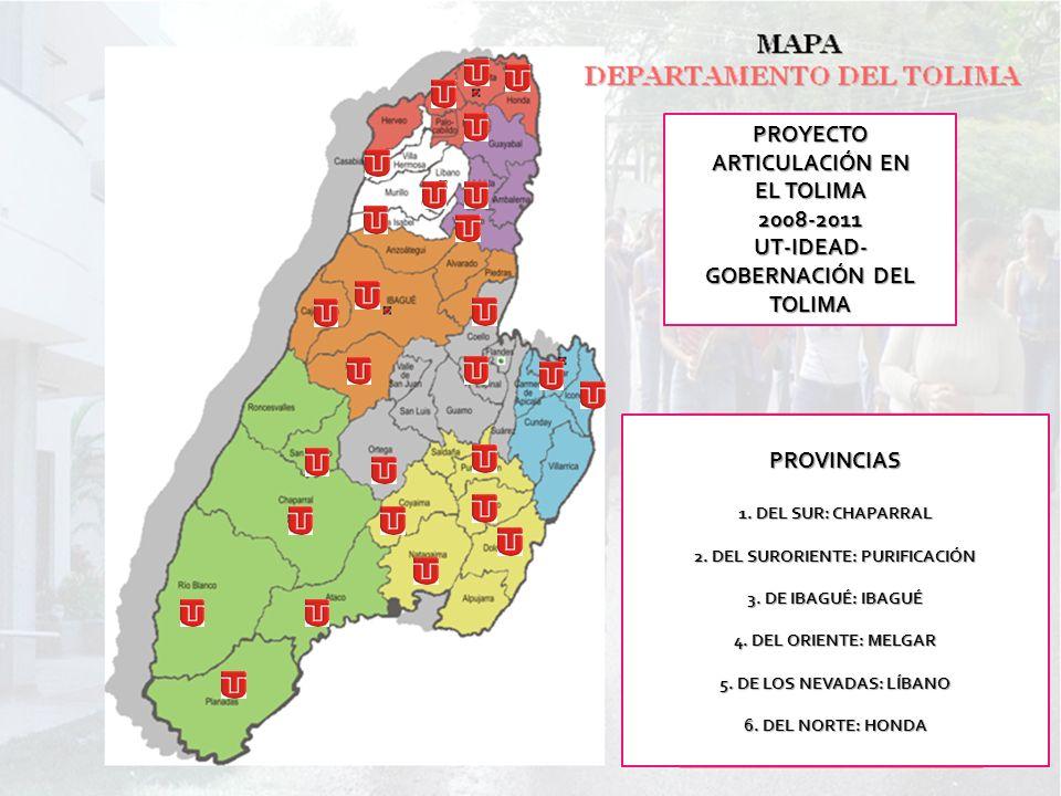 PROYECTO ARTICULACIÓN EN EL TOLIMA 2008-2011