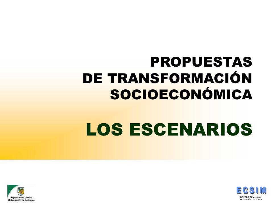 PROPUESTAS DE TRANSFORMACIÓN SOCIOECONÓMICA LOS ESCENARIOS