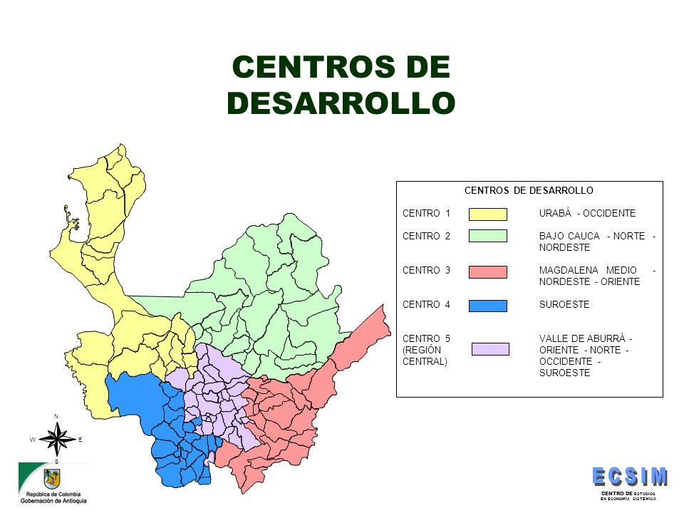 CENTROS DE DESARROLLO CENTROS DE DESARROLLO CENTRO 1 URABÁ - OCCIDENTE