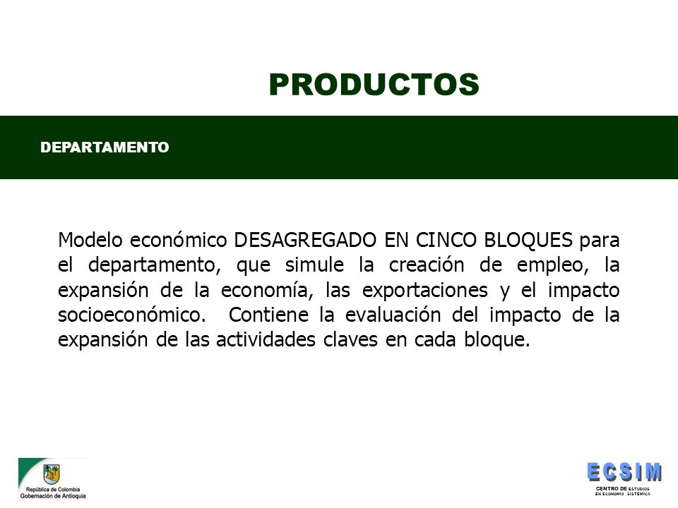 PRODUCTOS DEPARTAMENTO.