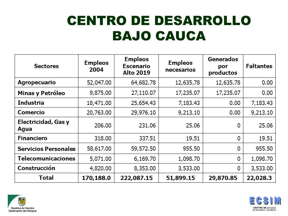 CENTRO DE DESARROLLO BAJO CAUCA