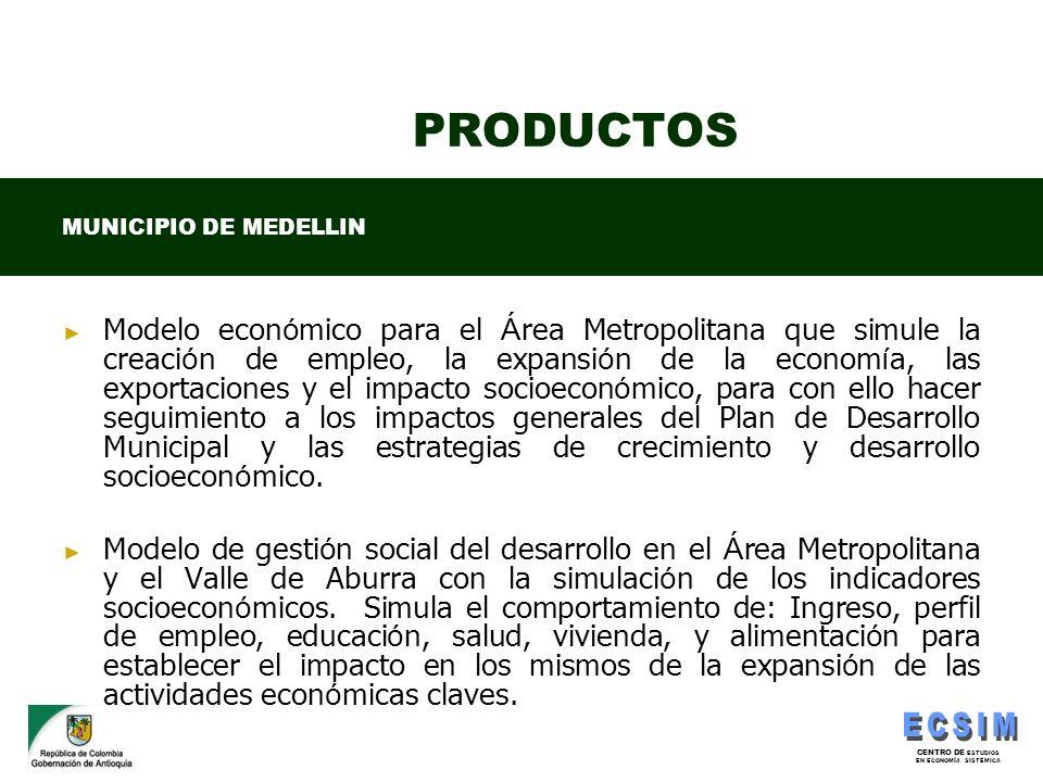 PRODUCTOS MUNICIPIO DE MEDELLIN.