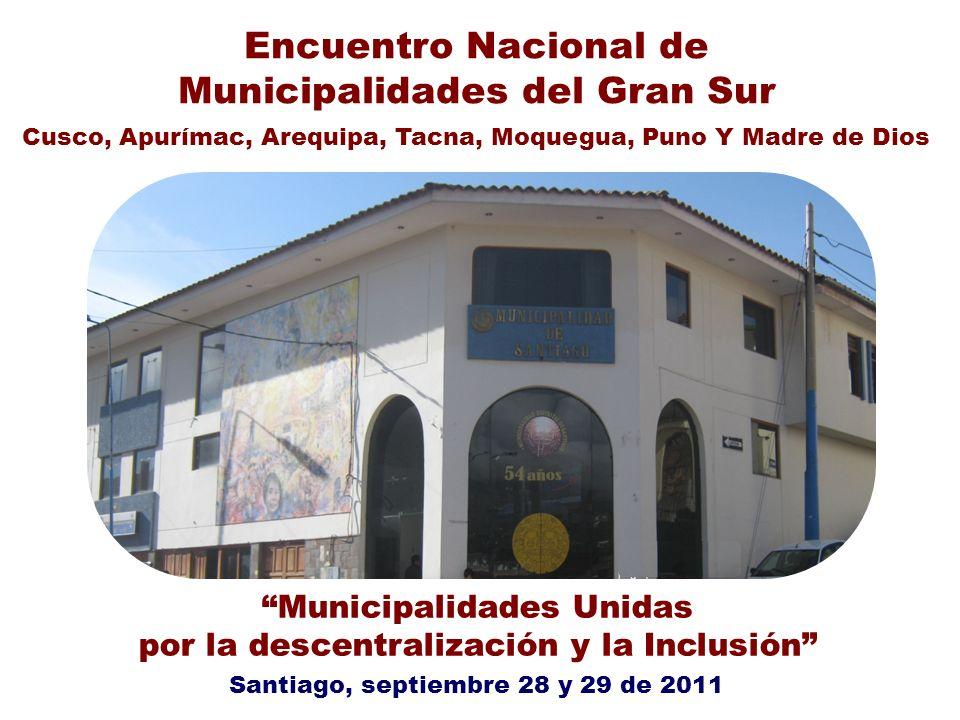 Encuentro Nacional de Municipalidades del Gran Sur