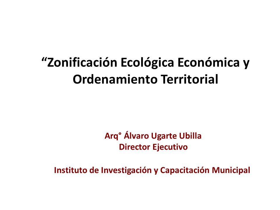 Zonificación Ecológica Económica y Ordenamiento Territorial