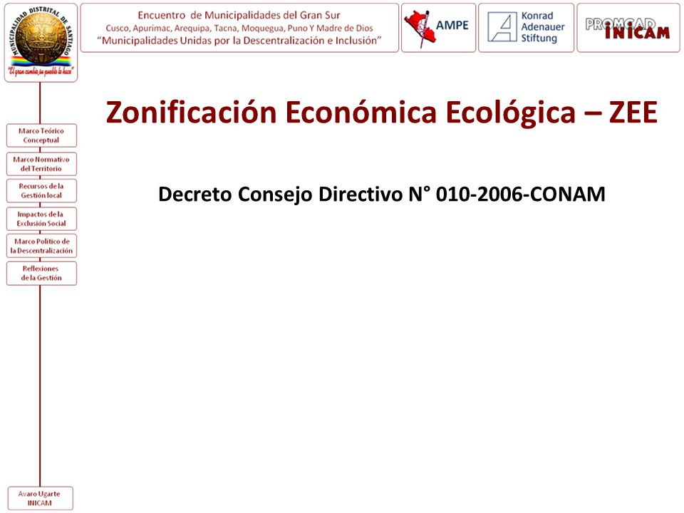 Zonificación Económica Ecológica – ZEE