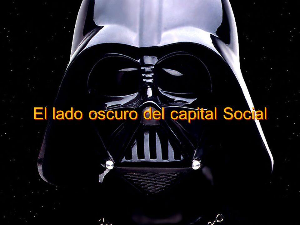 El lado oscuro del capital Social