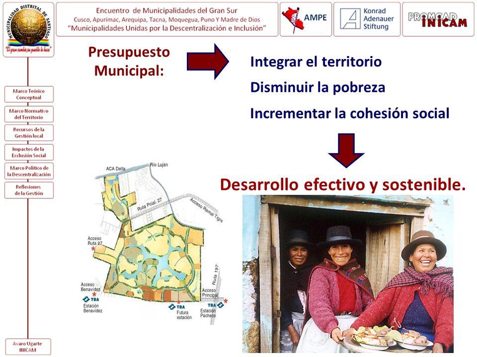Presupuesto Municipal: Desarrollo efectivo y sostenible.