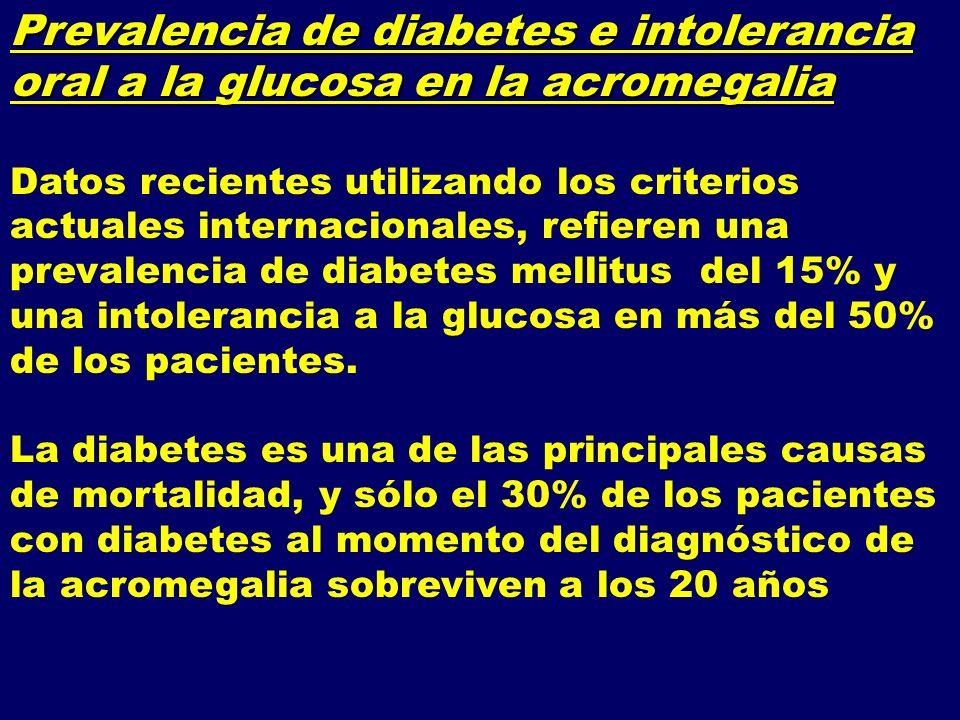 Prevalencia de diabetes e intolerancia oral a la glucosa en la acromegalia