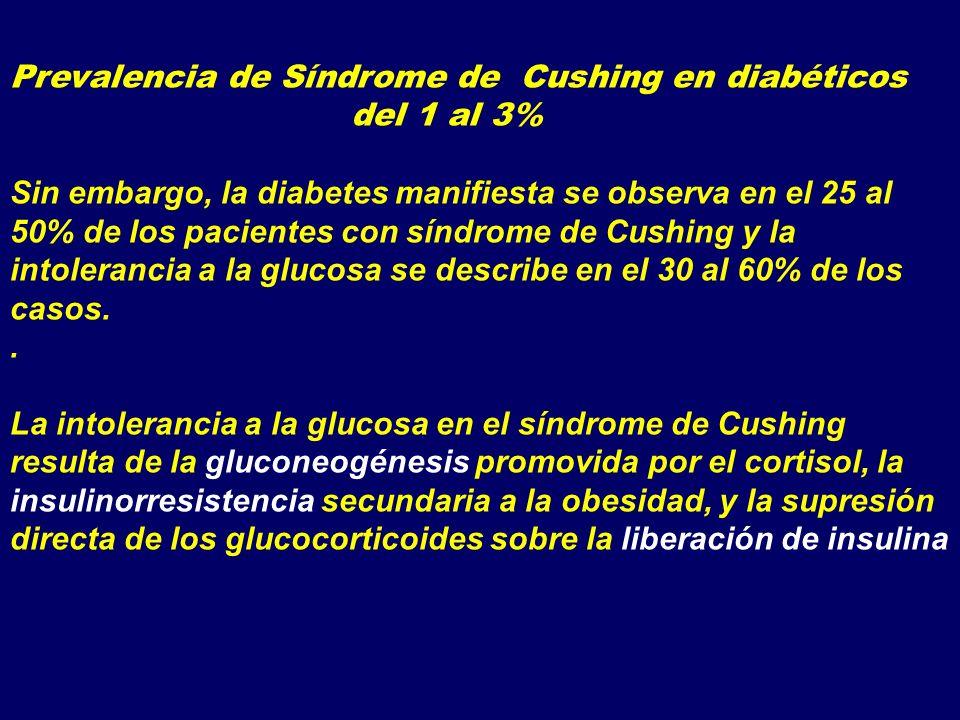 Prevalencia de Síndrome de Cushing en diabéticos