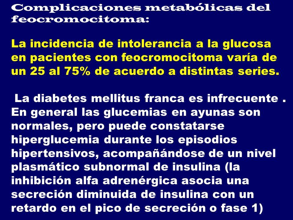 Complicaciones metabólicas del feocromocitoma: