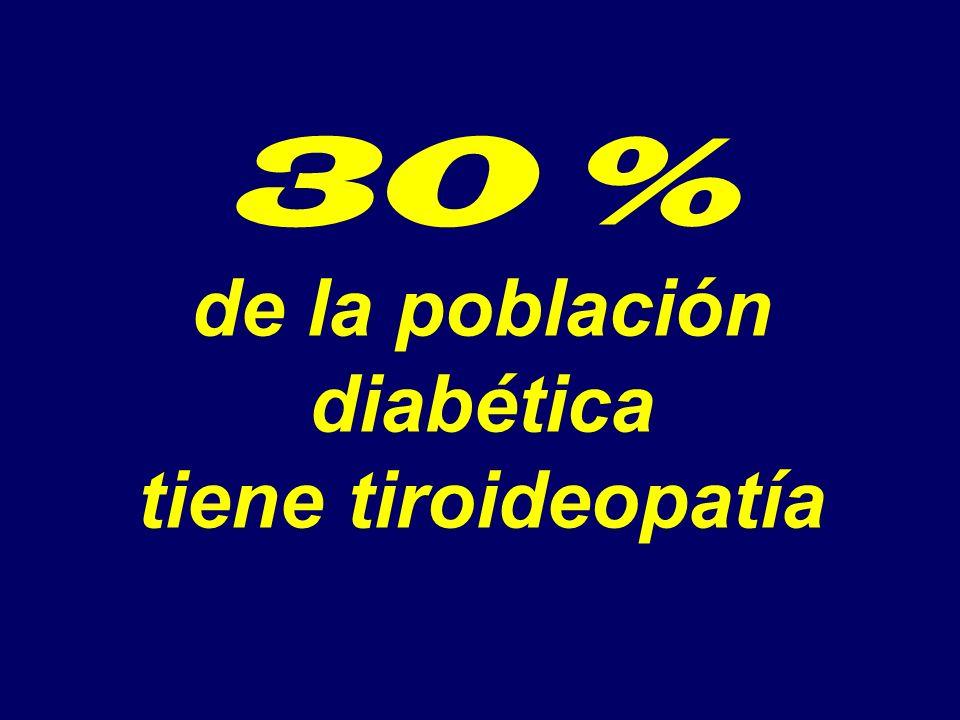 30 % de la población diabética tiene tiroideopatía