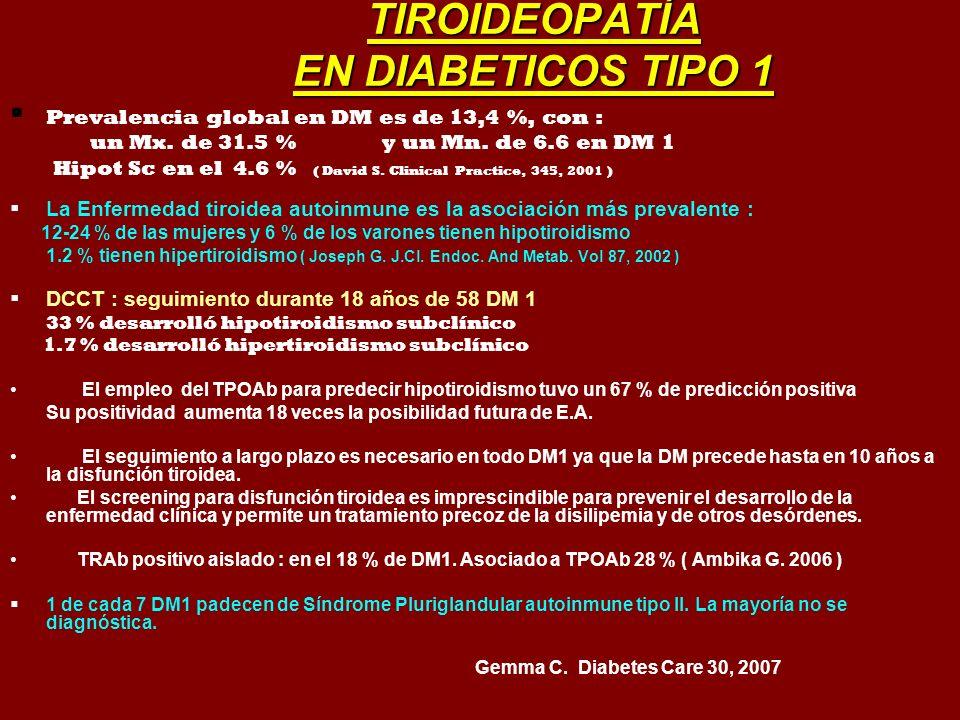 TIROIDEOPATÍA EN DIABETICOS TIPO 1
