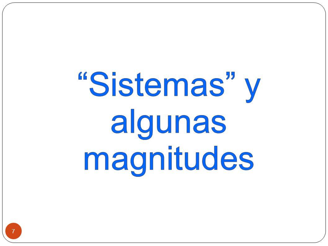 Sistemas y algunas magnitudes