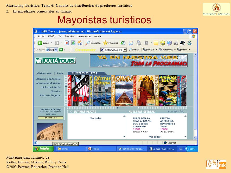 Mayoristas turísticos