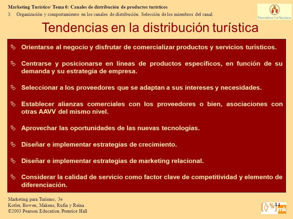 Tendencias en la distribución turística