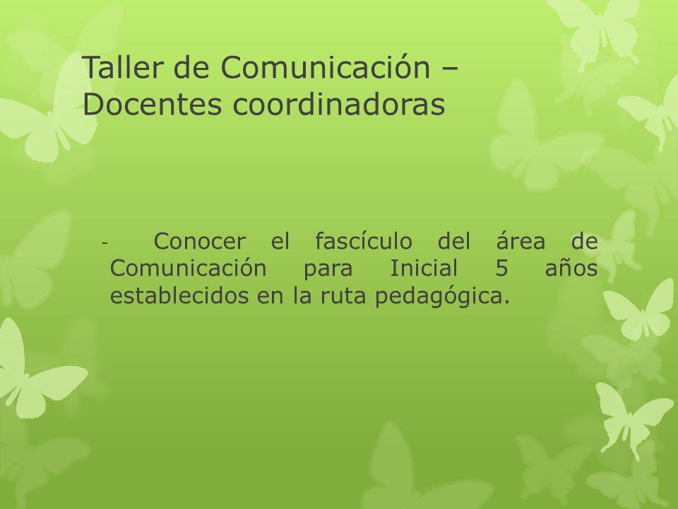 Taller de Comunicación – Docentes coordinadoras