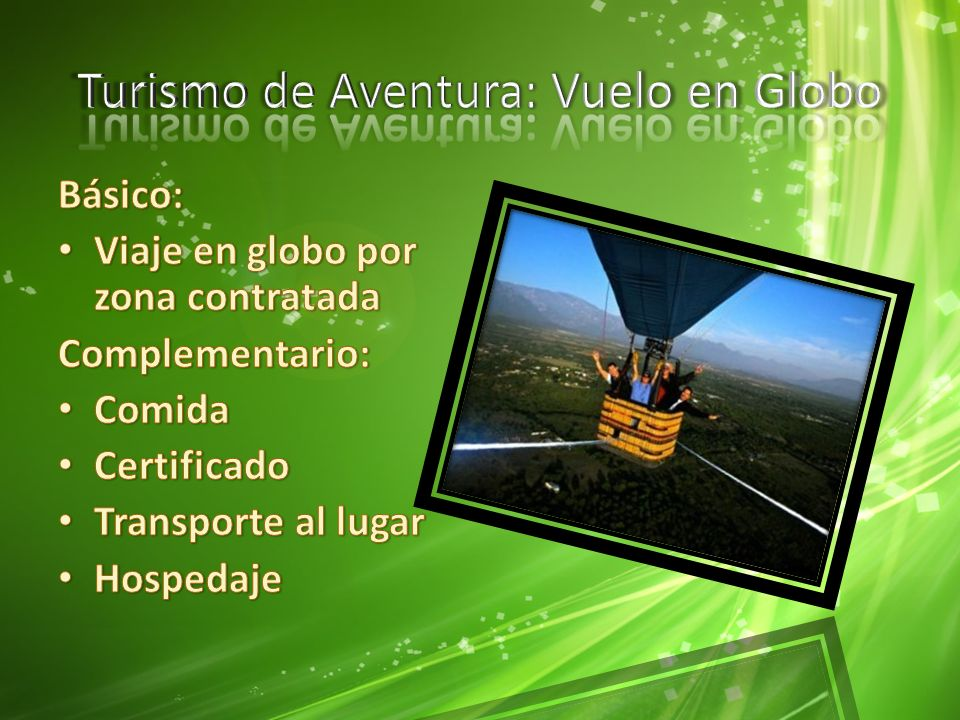 Turismo de Aventura: Vuelo en Globo