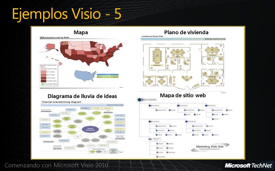 Ejemplos Visio - 5 Mapa Plano de vivienda Diagrama de lluvia de ideas