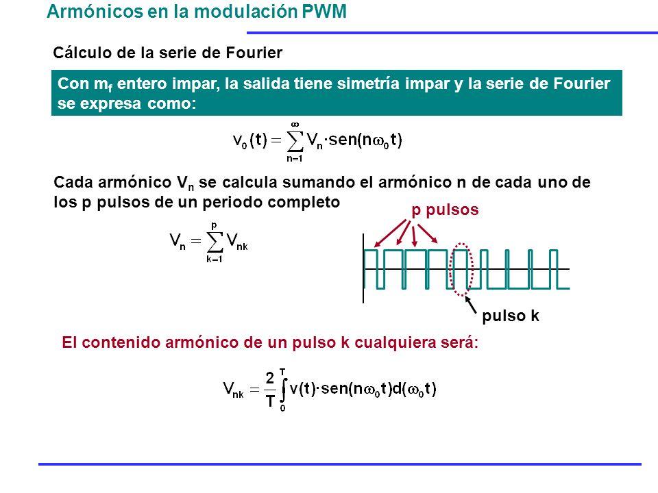 Armónicos en la modulación PWM
