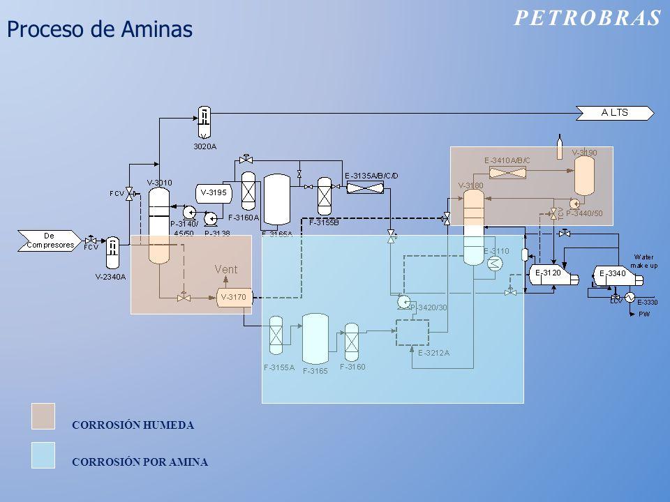 Proceso de Aminas PETROBRAS CORROSIÓN HUMEDA CORROSIÓN POR AMINA