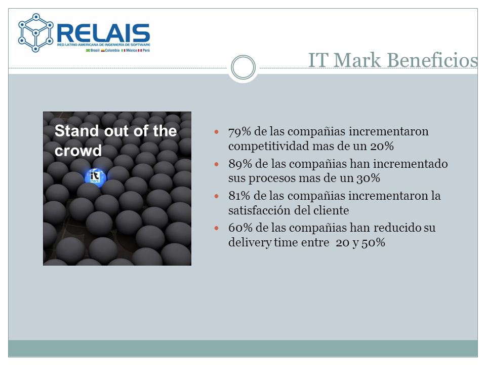IT Mark Beneficios Stand out of the crowd