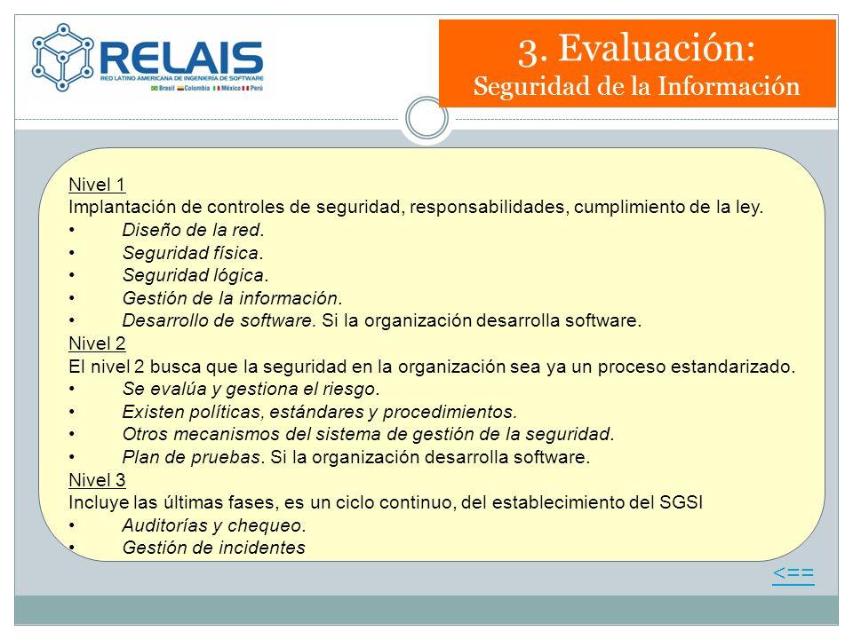 3. Evaluación: Seguridad de la Información