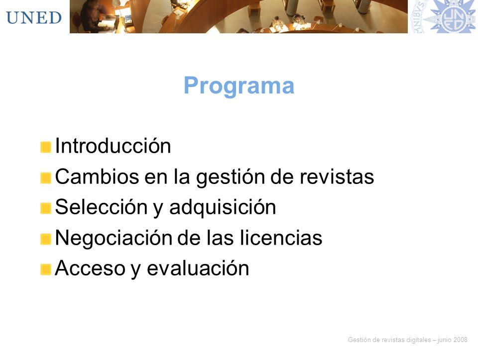 Programa Introducción Cambios en la gestión de revistas