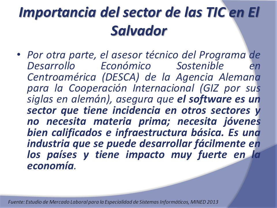 Importancia del sector de las TIC en El Salvador