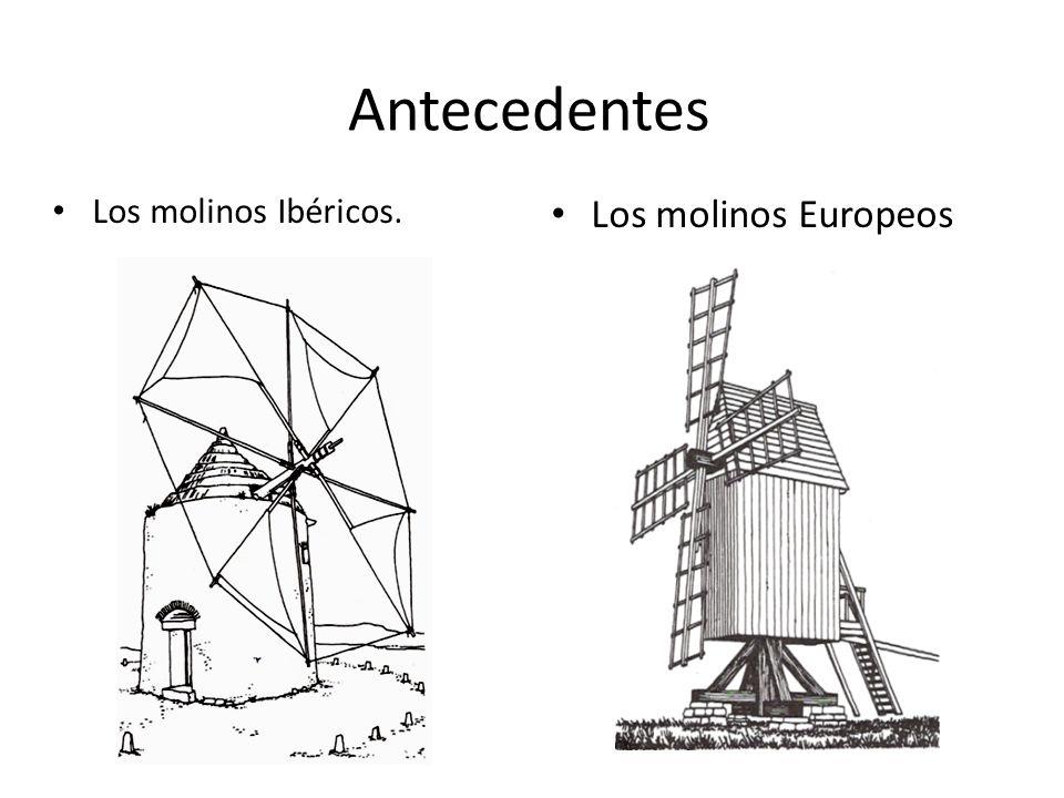 Antecedentes Los molinos Ibéricos. Los molinos Europeos