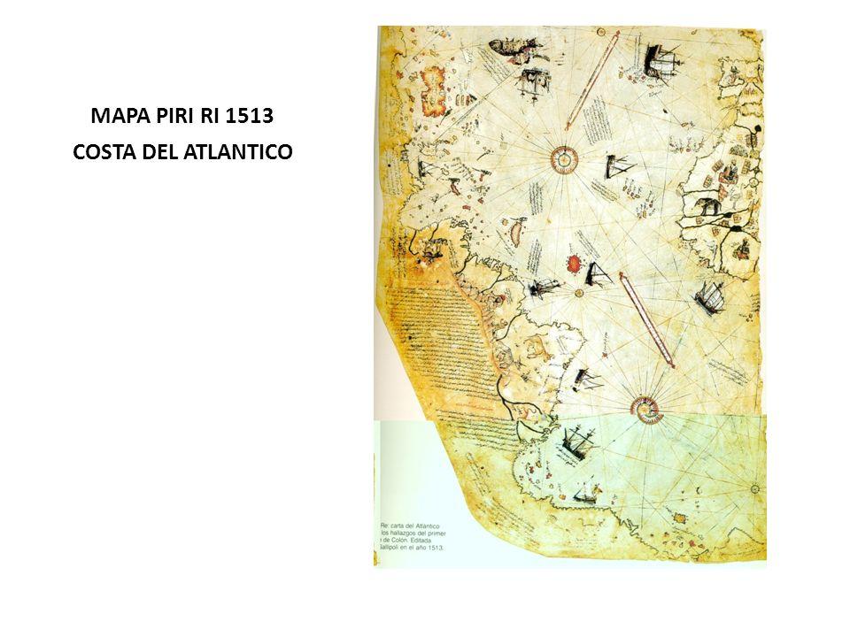 MAPA PIRI RI 1513 COSTA DEL ATLANTICO