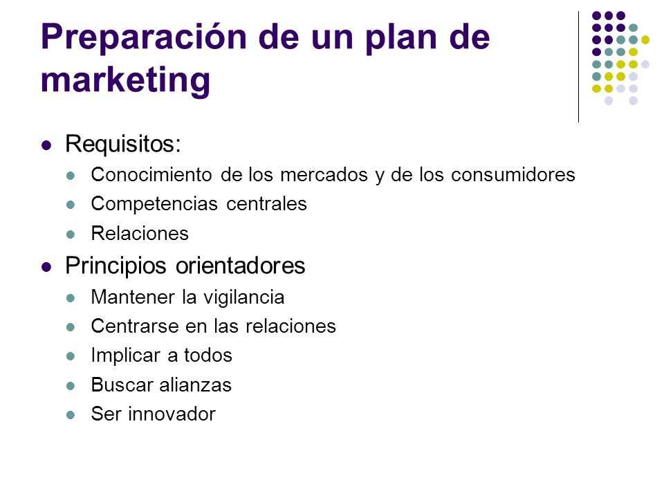 Preparación de un plan de marketing