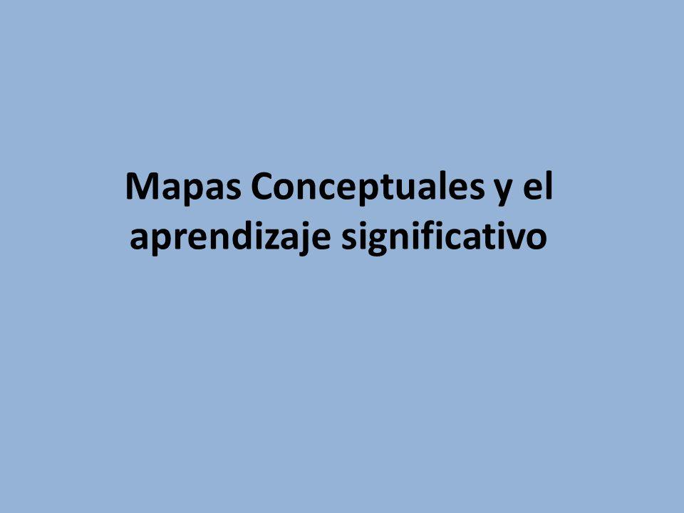 Mapas Conceptuales y el aprendizaje significativo