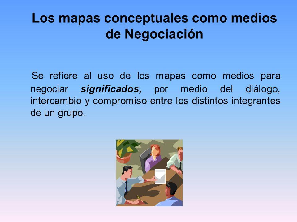 Los mapas conceptuales como medios de Negociación