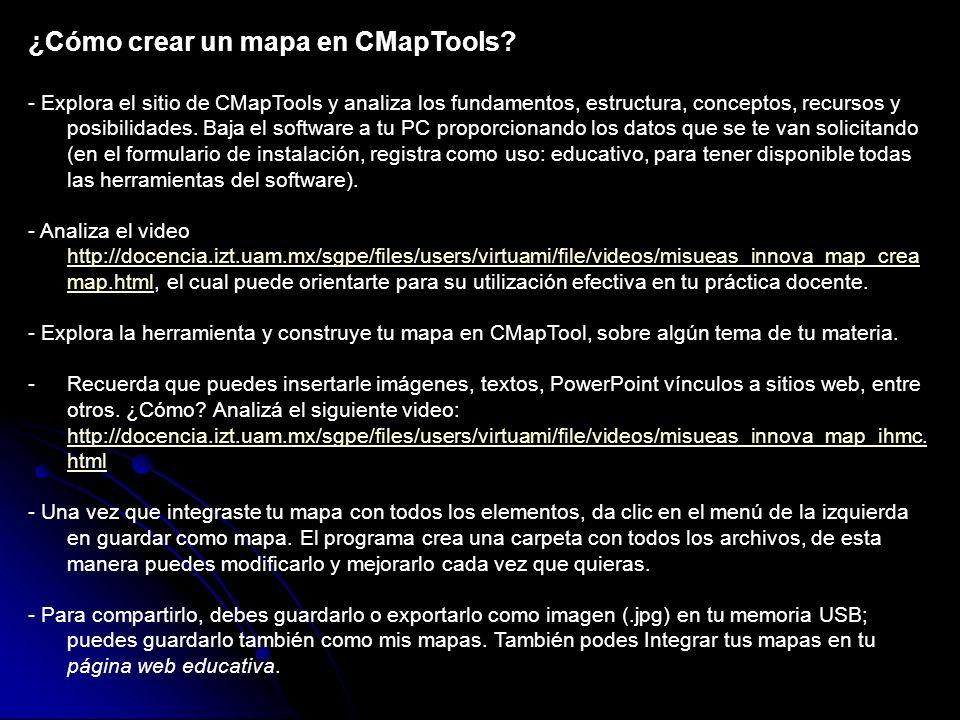 ¿Cómo crear un mapa en CMapTools