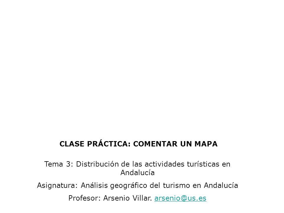 CLASE PRÁCTICA: COMENTAR UN MAPA