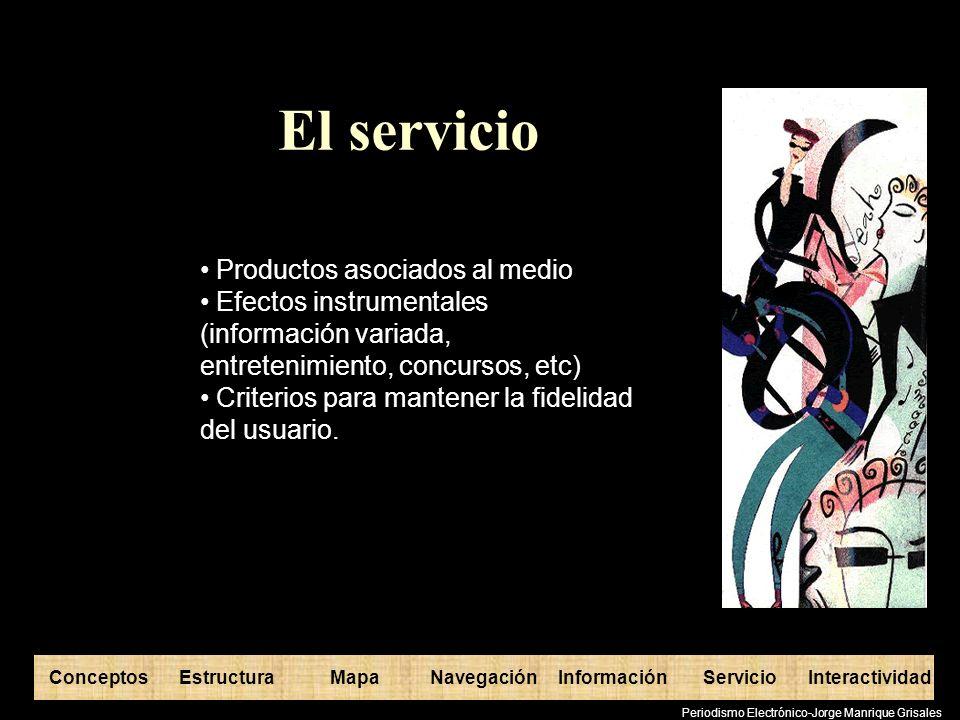 El servicio Productos asociados al medio