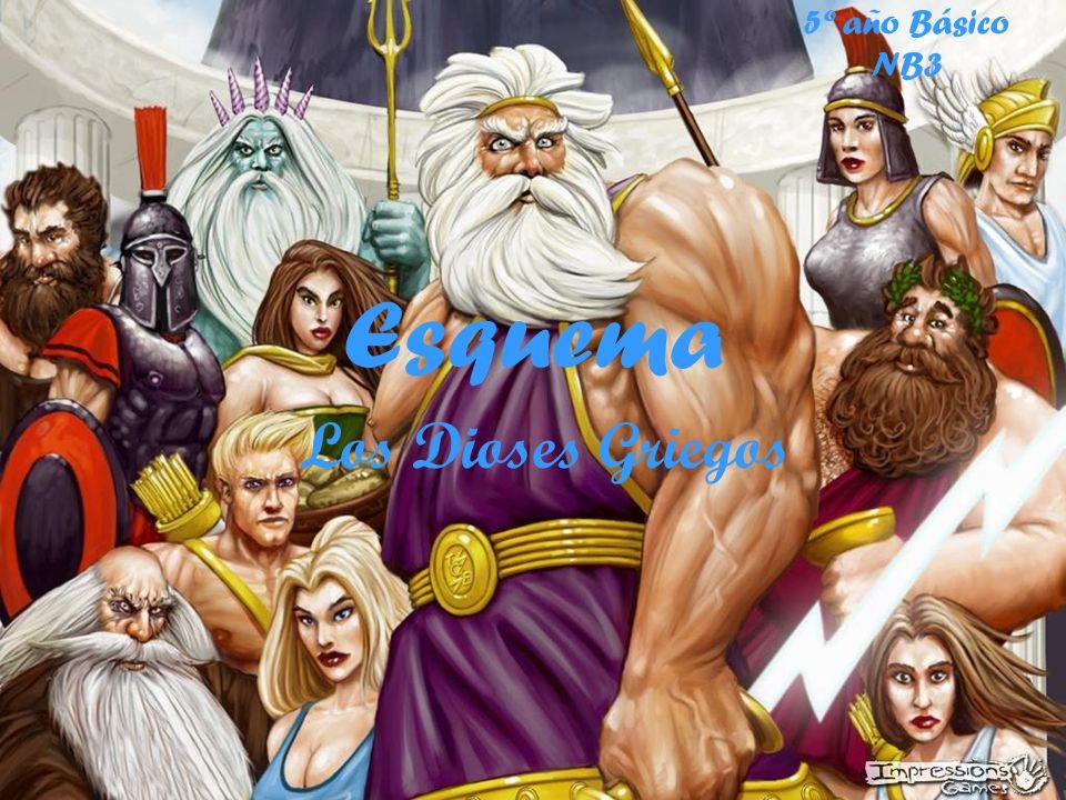 5º año Básico NB3 Esquema Los Dioses Griegos