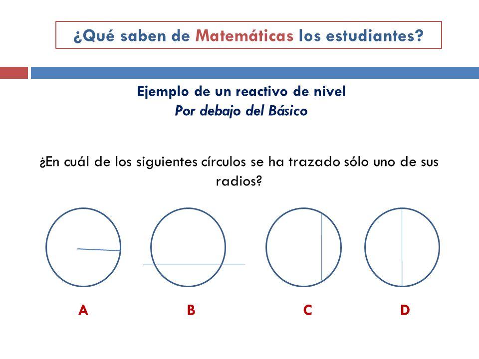 ¿Qué saben de Matemáticas los estudiantes