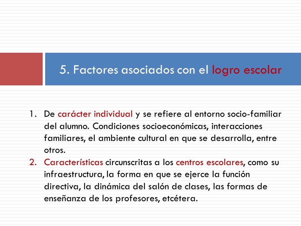 5. Factores asociados con el logro escolar