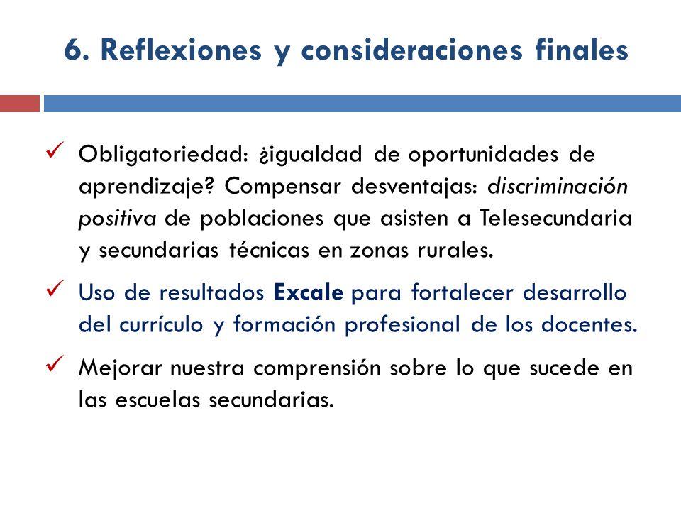 6. Reflexiones y consideraciones finales