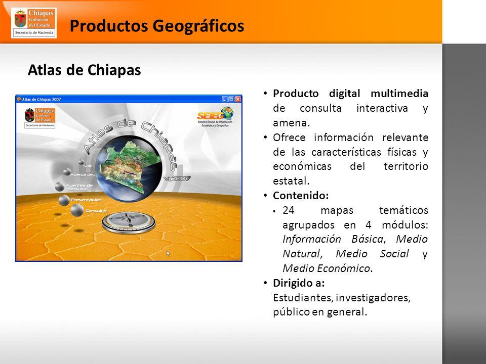 Productos Geográficos